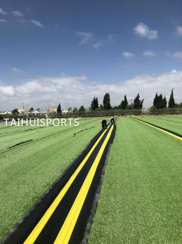 Double-Sided Grooved Outdoor High Elasticity Rubber Synthetic Artificial Grass Underlay For Football Baseball Hockey Etc