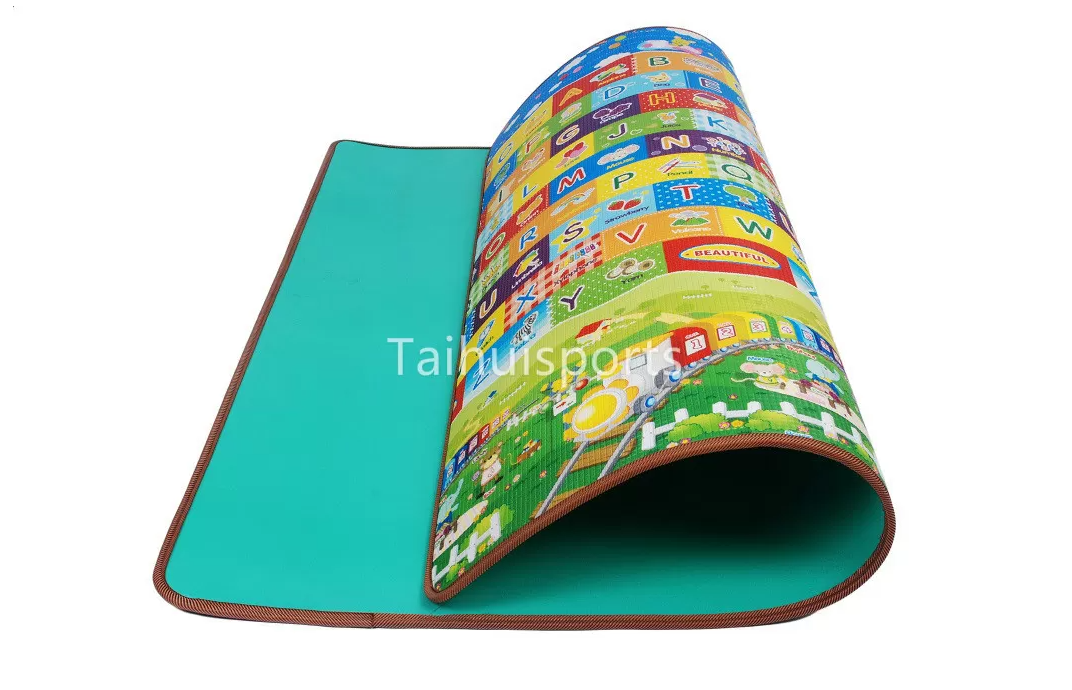 Single Sided Eco Eva Foam Play Mats , Anti Bacterial Cushioned Play Mat