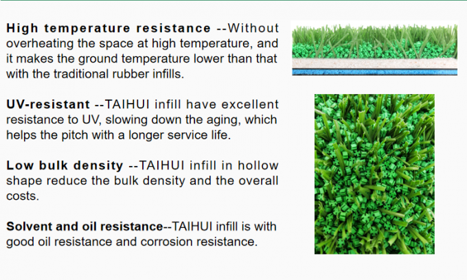 TPE Rubber artificial Synthetic Turf Infill Granule For Football Turf Pitch UVA UVB Testing At Food Safe Level 2
