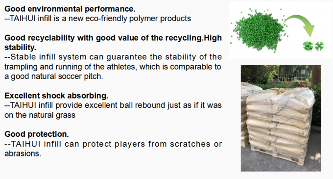 New SEBS Rubber Recyclable Rubber Artificial Grass Infill No Odor Cooling Infill Customized Color 2